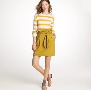 J.Crew sash skirt