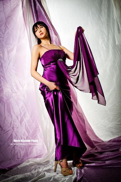 Yeon Da Bin Gorgeous in Purple Maxi