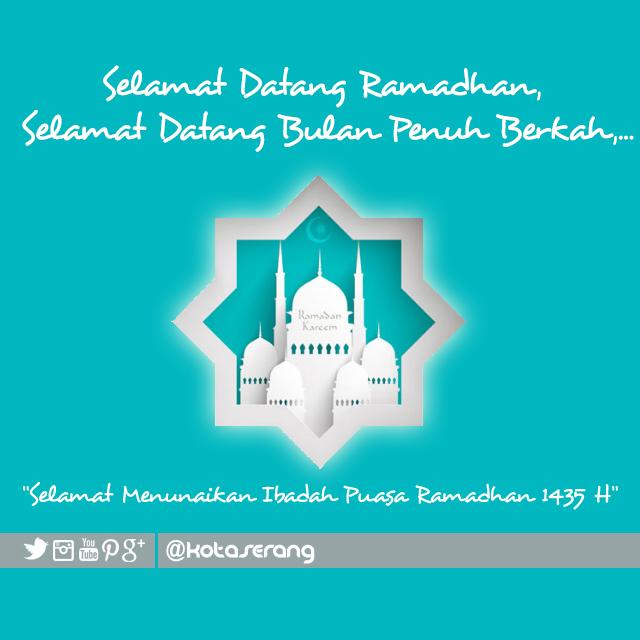 Gambar Vector - Gambar Ucapan selamat ramadhan KotaSerang.com 2014