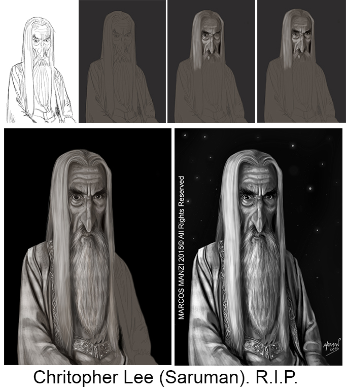 Saruman Homenaje a Christopher Lee (1922-2015) R.I.P.