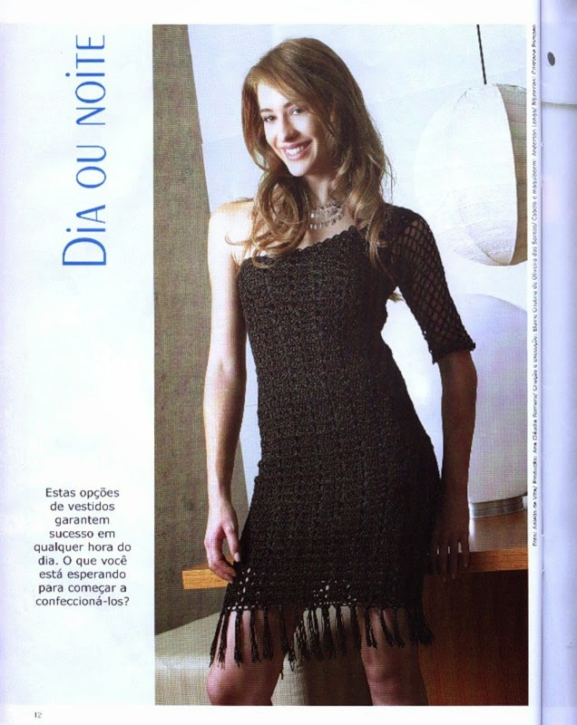 Vestido de fiesta corto de dama al crochet