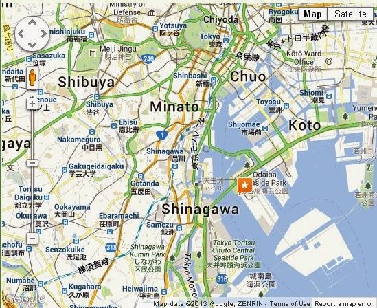 Detail Odaiba Tokyo Location Map PORTAL BJ