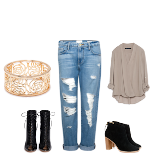 work outfit inspiration boyfriend jeans