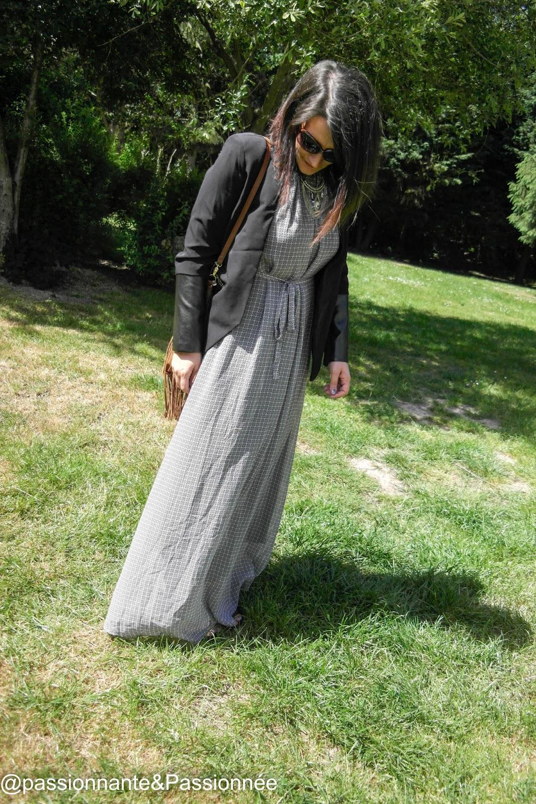 Robe longue et blazer