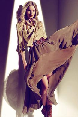 falda larga Massimo Dutti