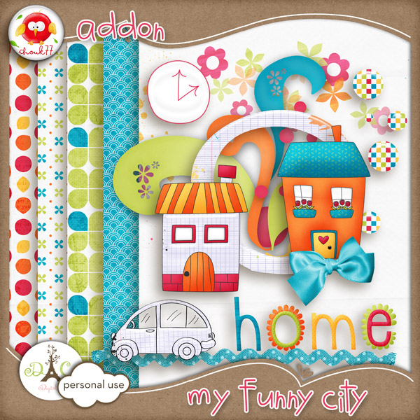 ... DigiScrap Freebies: My Funny City mini kit freebie from Chouk77