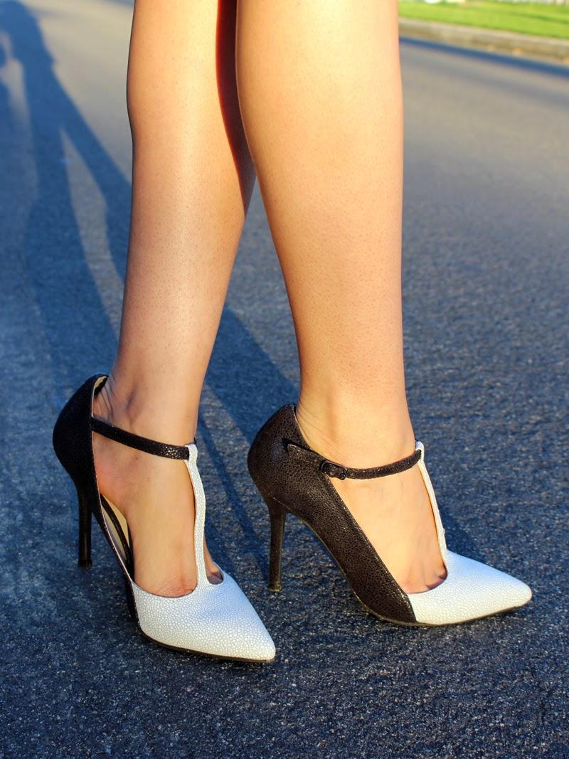 pencil skirt peplum top pointy shoes katy009 fashion
