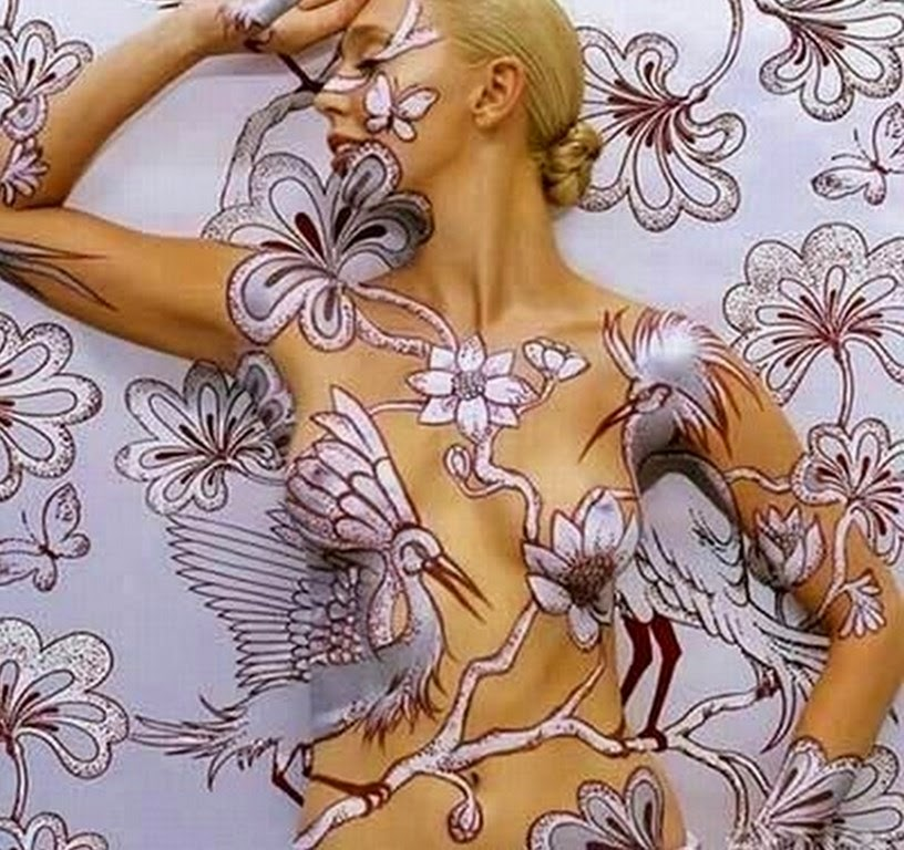 mujeres-con-body-art-pinturas