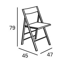 medidas silla cocina plegable