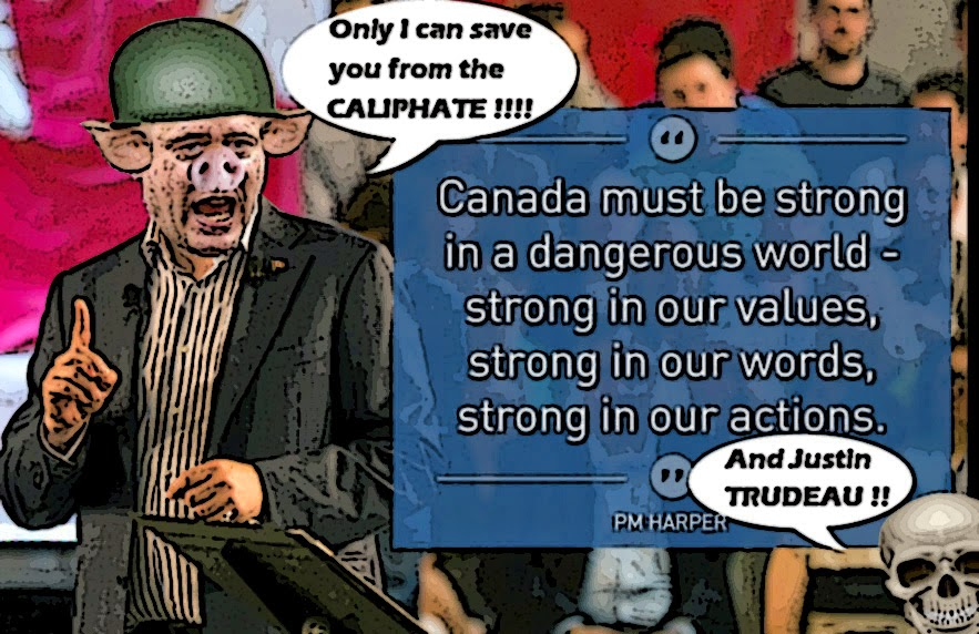 Montreal simon stephen harper and the great war on isis trap for Farcical situation definition