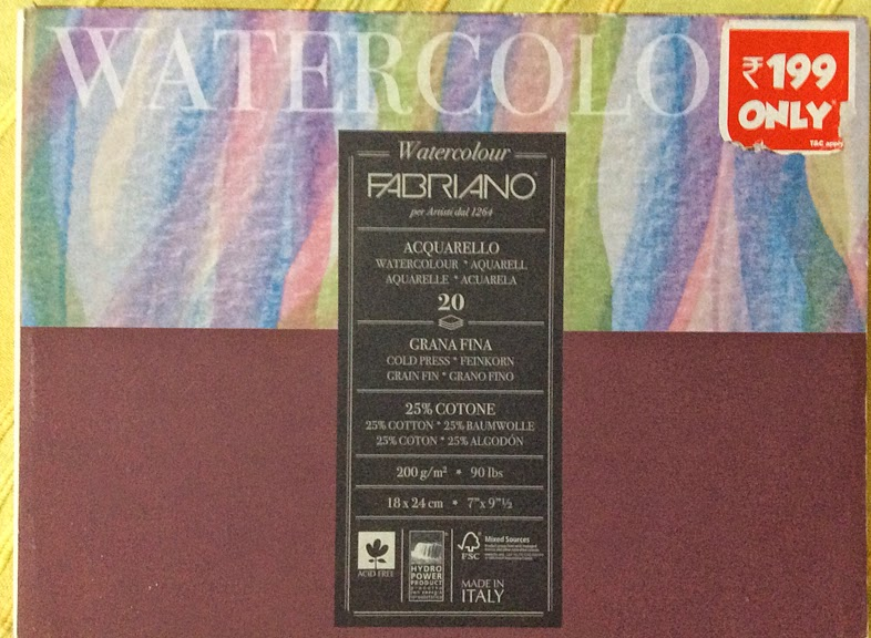 fabriano water colour paper 200gsm