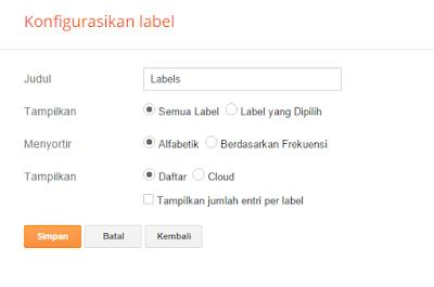 Pengaturan label