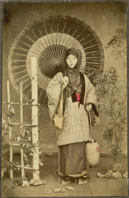 Japanese Woman Umbrella Japanese Woman With an
