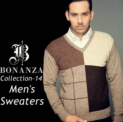 Bonanza Men\u0027s Sweaters for Winter 2014,15  Bonanza garments is famous  online store of Pakistan, it was established in the mid of 1976.