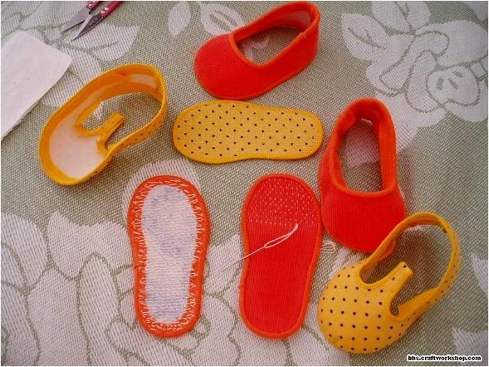 Как сшить обувь для ребенка