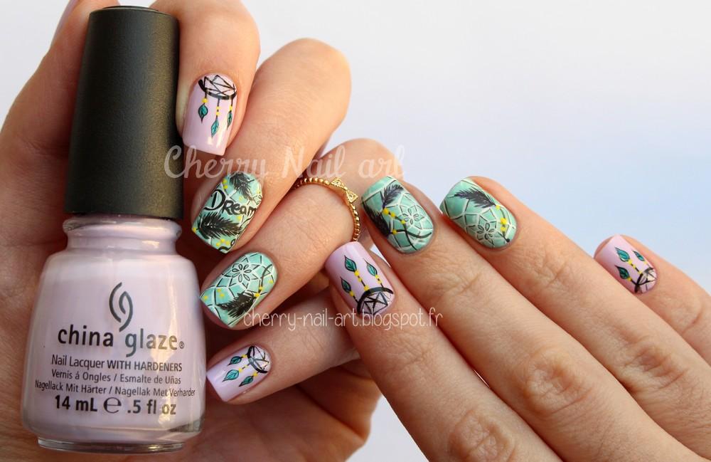 Célèbre CHERRY NAIL ART - Blog mode beauté: Nail art dreamcatcher GI64