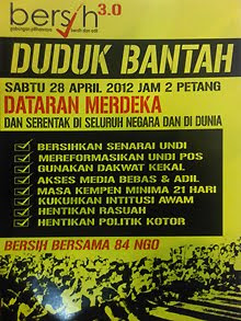 BERSIH 3.0 28 APRIL 2012