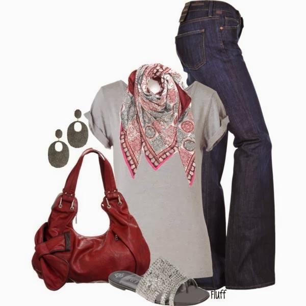 Jeans, Shirt, Earrings, Shoes,....