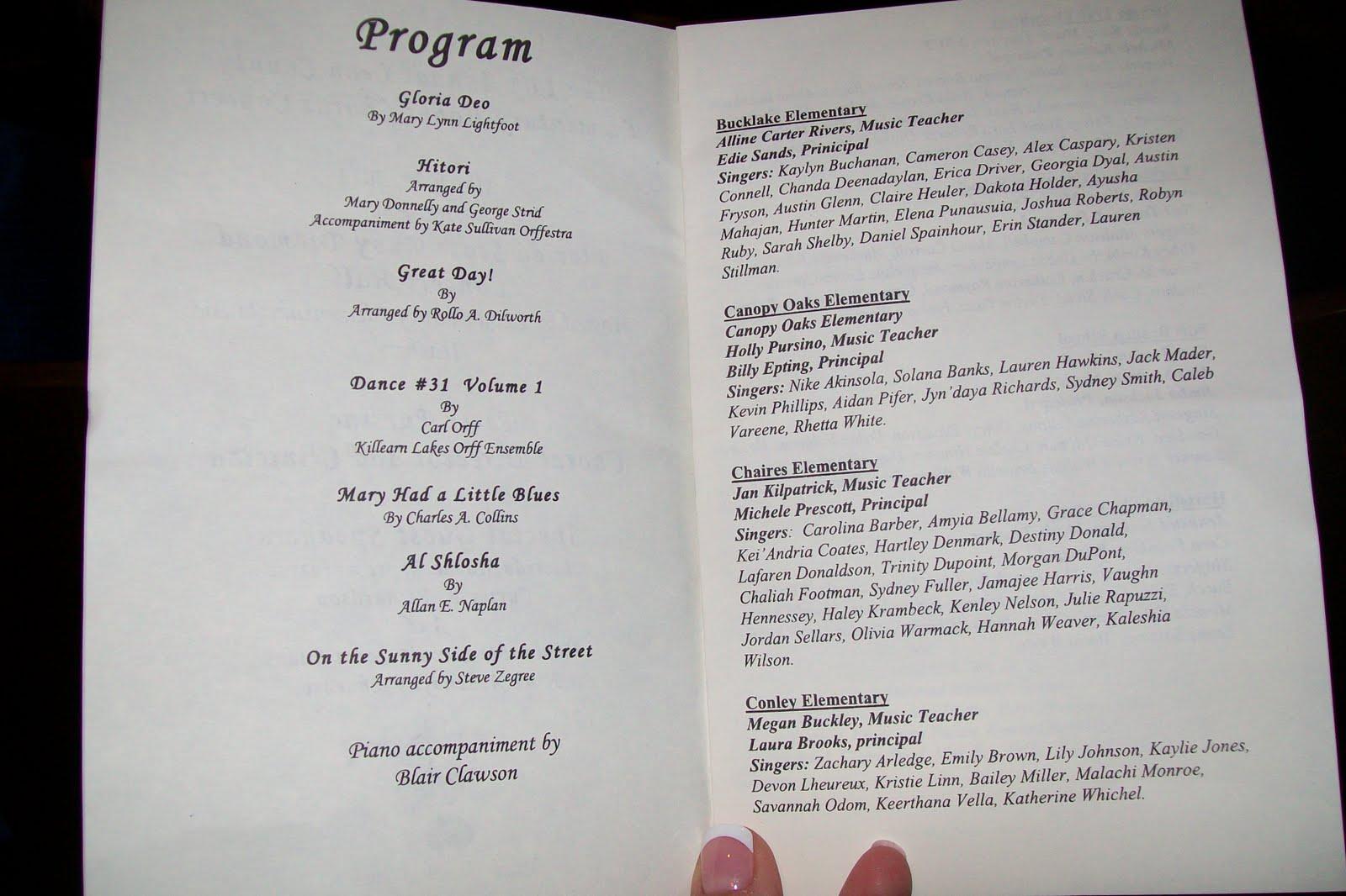 school concert program template