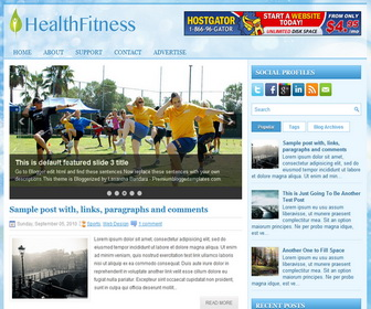 HealthFitness 2 Column Blogger Template