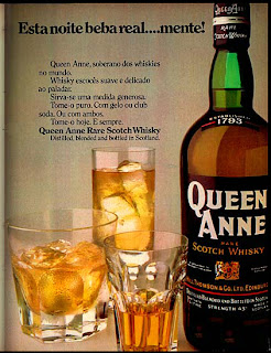 anúncio whisky queen anne - 1974. anos 70.  1974. década de 70. os anos 70; propaganda na década de 70; Brazil in the 70s, história anos 70; Oswaldo Hernandez;