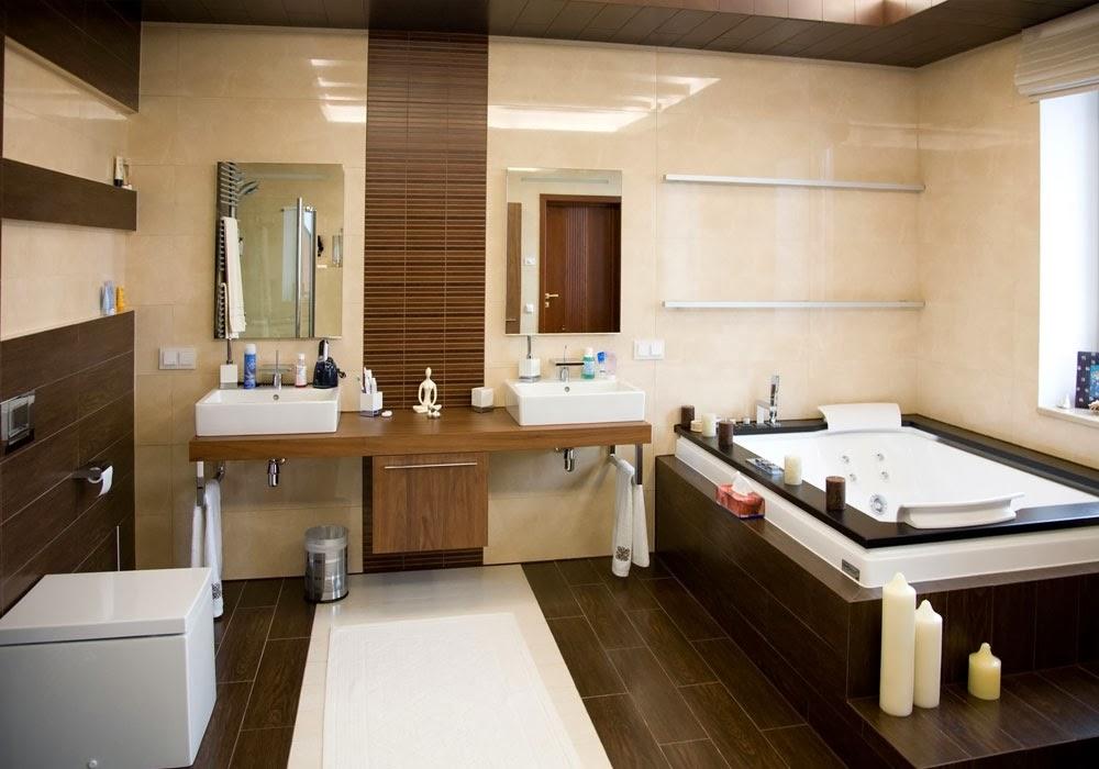Decoración y afinidades: baños de color marrón 2014