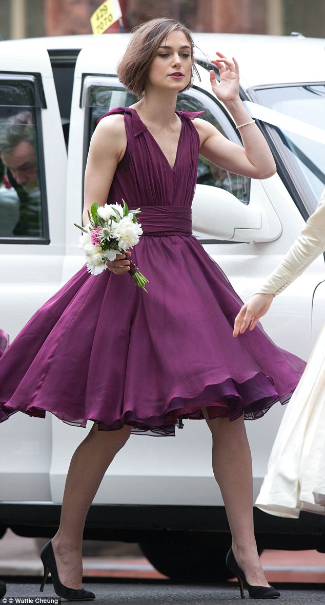 Wedding fever for Keira! Knightley plays bridesmaid at her brother\'s ...