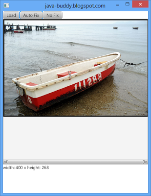 Get width and height of resized image