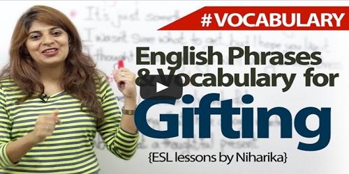 gift vocabulary