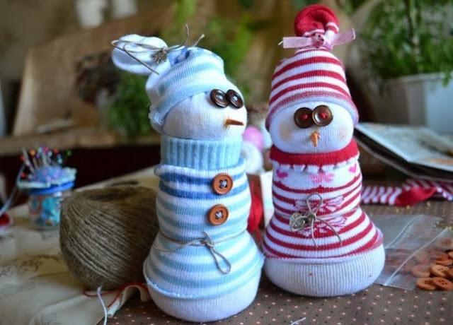 Снеговики из носка