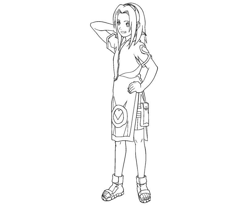sakura haruno coloring pages - photo#15