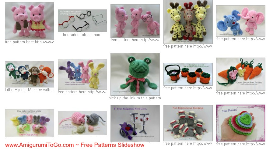 Amigurumi I To Go : Amigurumi To Go Free Patterns Slideshow ~ Amigurumi To Go