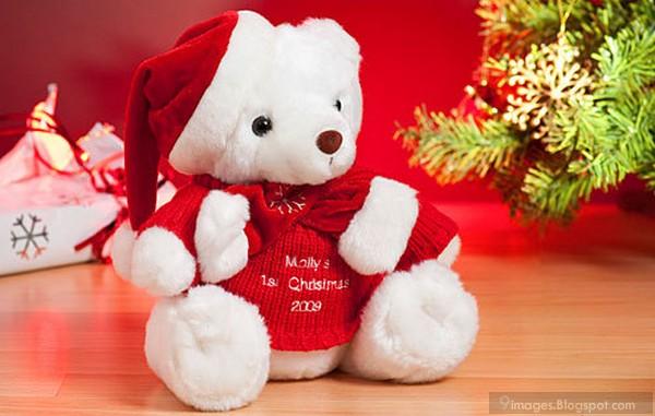Cute Teddy Bear Christmas Wishing Toy