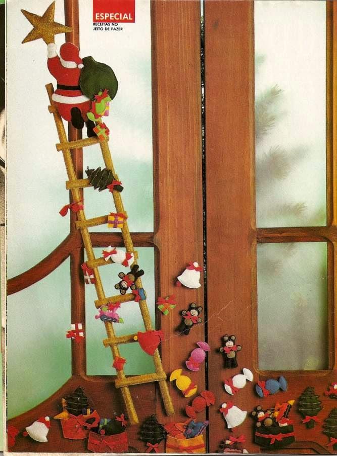 Decoração para o natal feita de feltro