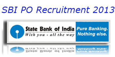 SBI recruitment PO 2013