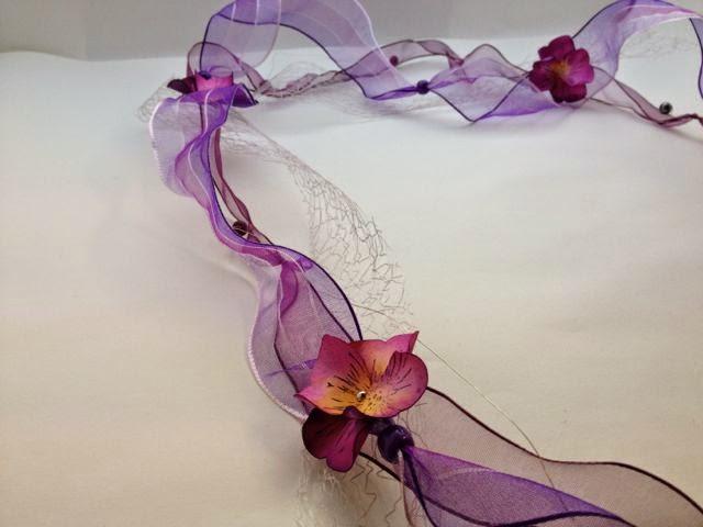 Blütenband mit Schmetterlingsstanze von Stampin Up