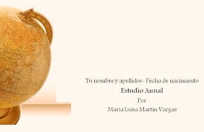 Estudio Anual. Maria Luisa Martin Vargas