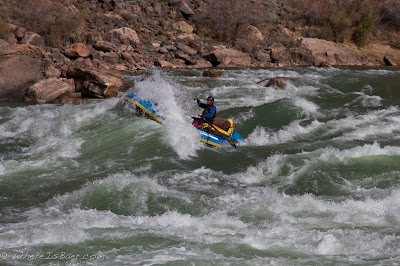 Jed Policky making his way through Hermit, colorado river Grand Canyon, Chris Baer