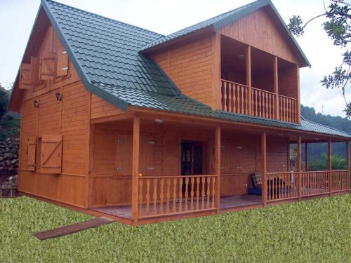 Casas prefabricadas madera viviendas anahi chalet nueva generacion - Casas prefabricadas guadalajara ...