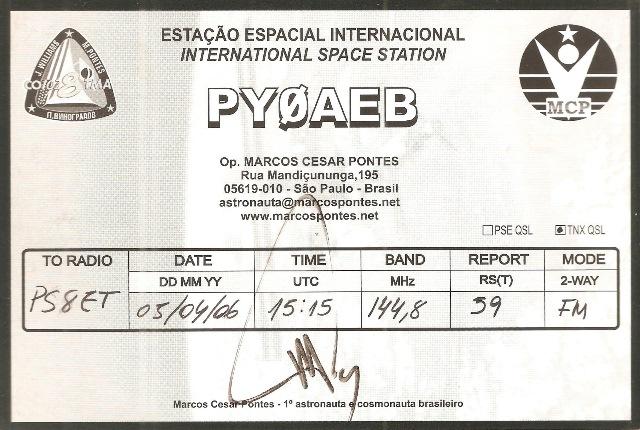 QSO - PY0AEB - ISS