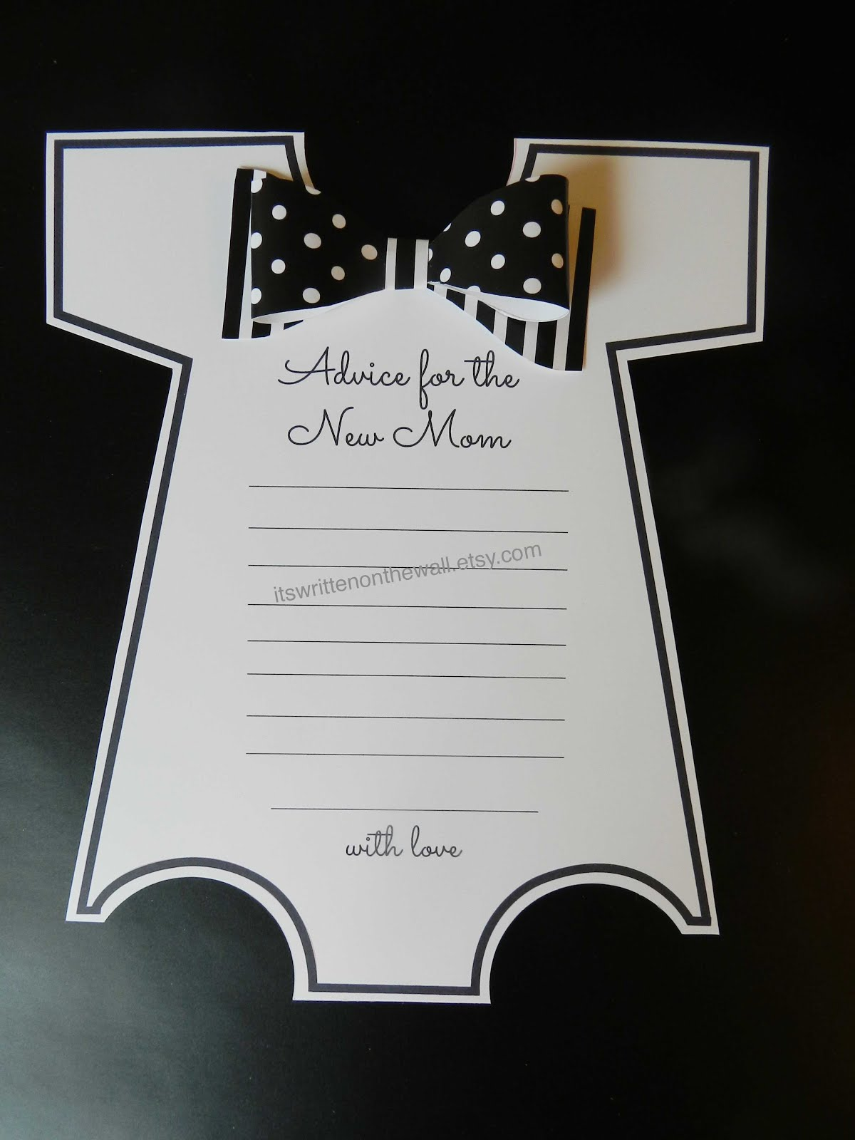 Black and White Baby Shower Game
