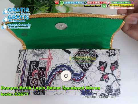 Dompet Batik Lapis Dalam Spunbond Warna