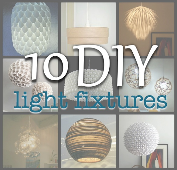 Same Fixture Just Add To It Or Cover Some How There Are So Many Fun And Unique Diy Light Fixtures Out Here 10 Inspiring Projects That Have