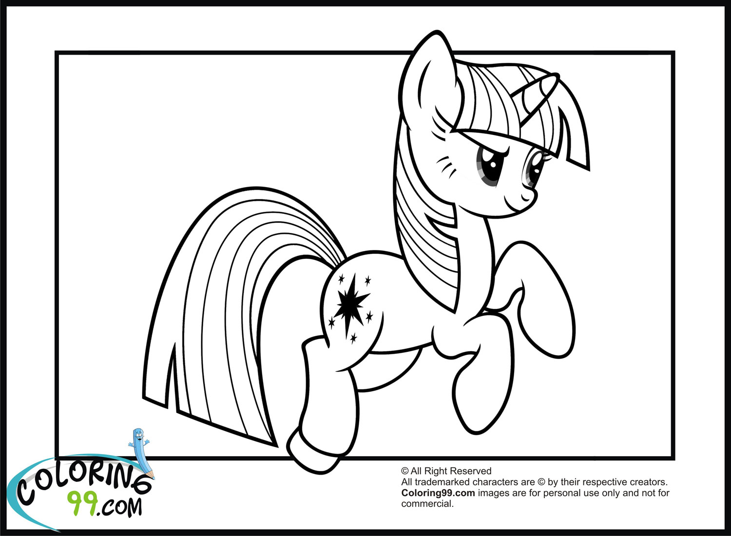 My Little Pony Twilight Sparkle Coloring Pages | Team colors