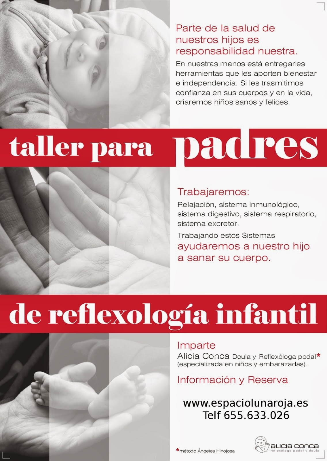 Taller para padres de Reflexología Infantil.