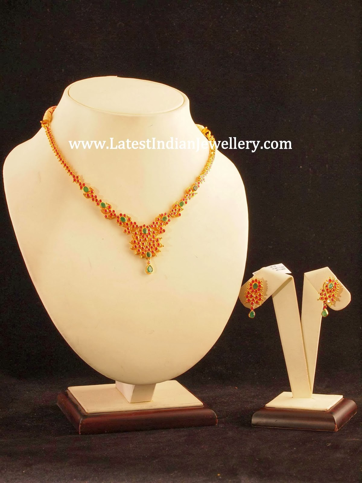 Stunning Ruby Necklace Design