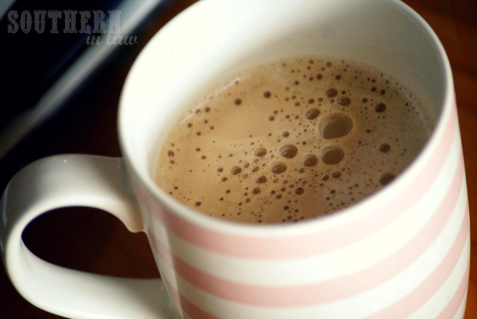 Hot cafe au lait