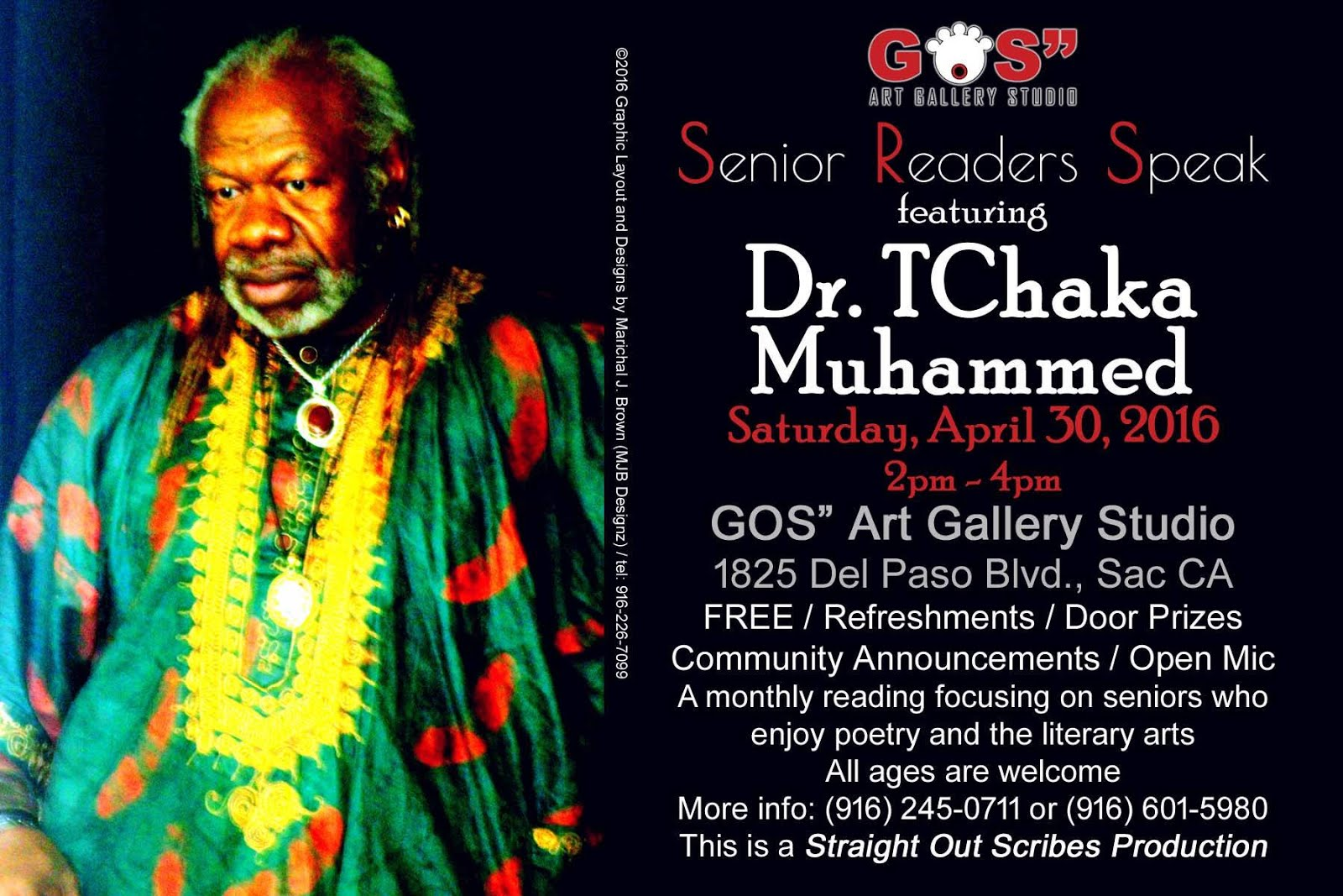 DR. MUHAMMED in Sac. Sat. (4/30)