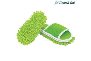 Clube Fashion - Chinelos com esfregonas microfibras X6 Clean & Go