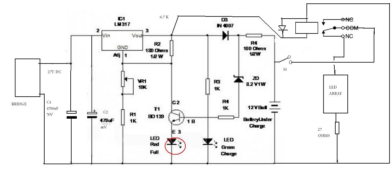 transformerless car battery charger circuit diagram